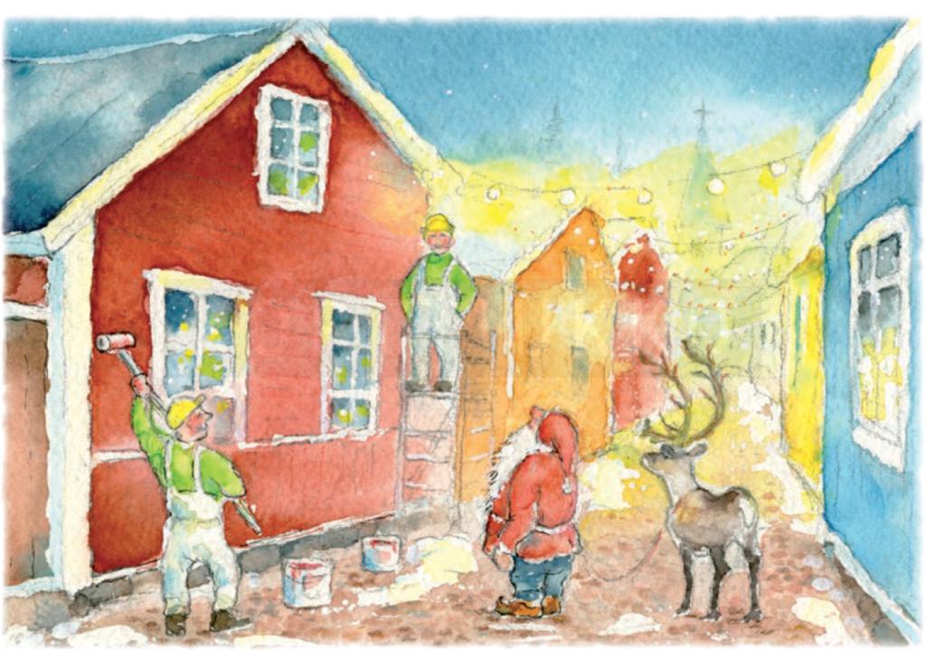 Väriset Oy:lle räätälöity joulukortti joululle 2017